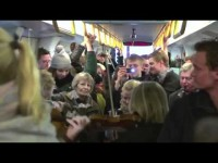The Copenhagen Philharmonic Orchestra Plays in the Metro of Copenhagen
